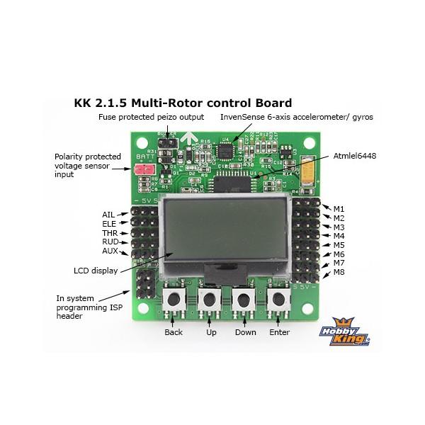 Kontroler lotu KK2 1 5 Multi-rotor LCD + MPU-6050 akcelerometr i żyroskop