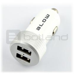 Ładowarka / zasilacz samochodowy Blow 5V/4.2A 2 x USB - biały