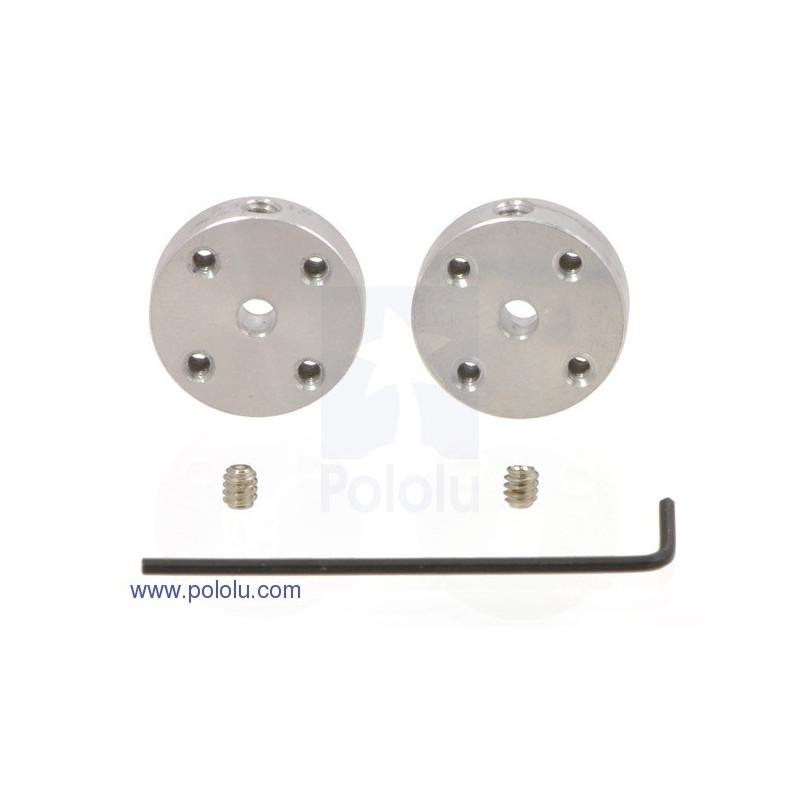 Aluminum mounting hub 3mm 4-40 - 2pcs