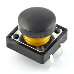 Tact Switch 12x12 mm z nasadką okrągły - czarny