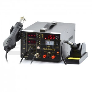 Soldering station WEP 853D hotair with fan + power supply 15V/1A_