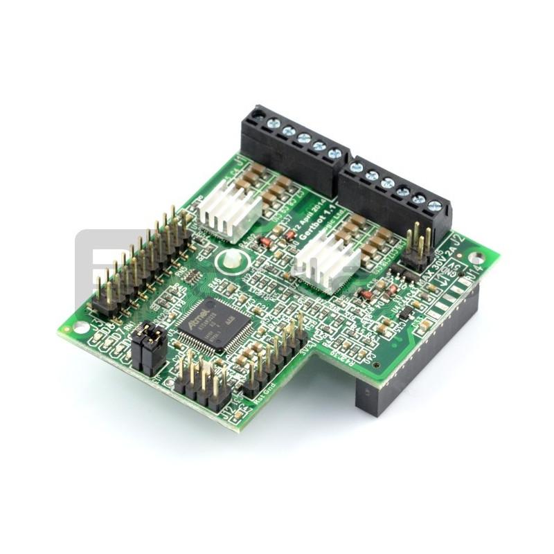 GertBot - sterownik robota Raspberry Pi - Silnik DC, przetwornik, GPIO