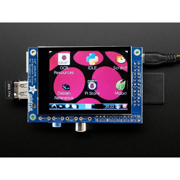 Adafruit PiTFT MiniKit - touch screen capacitive 2,8'' 320x240 for  Raspberry Pi 3/2/B+_