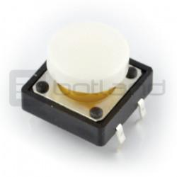 Tact Switch 12x12 mm z nasadką okrągły - biały [NOWE]