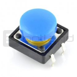 Tact Switch 12x12 mm z nasadką okrągły - niebieski [NOWE]