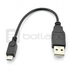 Przewód USB A - microUSB Goobay - B 0,1 m