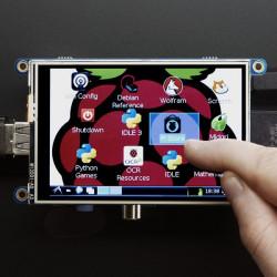 """PiTFT złożony - wyświetlacz dotykowy pojemnościowy 3,5"""" 480x320 dla Raspberry Pi"""