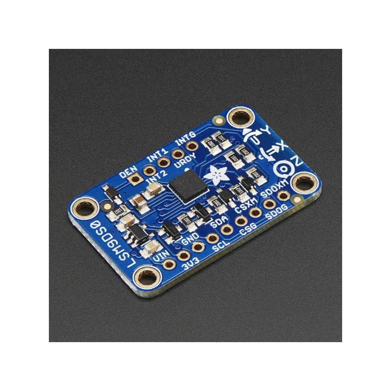 Adafruit LSM9DS0 9DoF IMU - 3-osiowy akcelerometr, żyroskop i magnetometr I2C/SPI