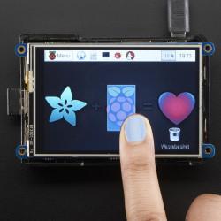 """PiTFT Plus złożony - wyświetlacz dotykowy pojemnościowy 3,5"""" 480x320 dla Raspberry Pi 2/A+/B+"""