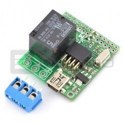 Moduł wykonawczy z przekaźnikiem i mikrokontrolerem ATmega8 MOD-34
