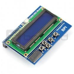 Wyświetlacz LCD 16x2 z klawiaturą i dioda RGB do Banana Pi