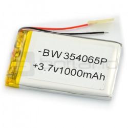 Akumulator Li-Poly 1000 mAh 3.7