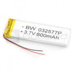 Akumulator Li-Poly 600 mAh 3.7V 3.9Wh
