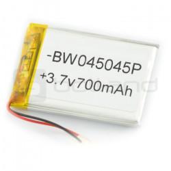 Akumulator Li-Poly 700 mAh 3.7V 3.9Wh