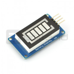Wyświetlacz poziomu baterii sterowany cyfrowo