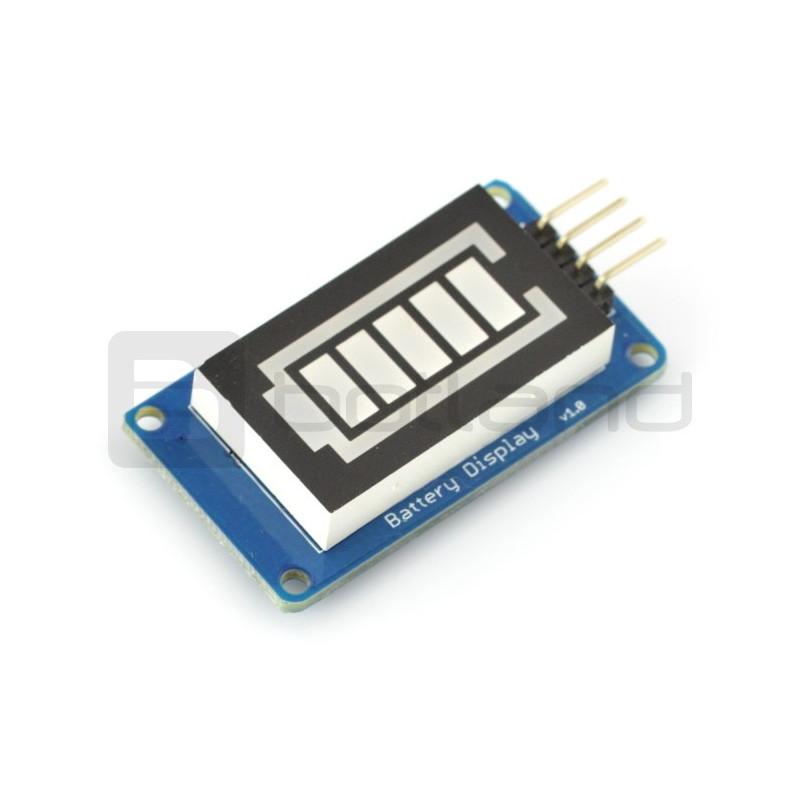 Wyświetlacz LED - wskaźnik poziomu baterii