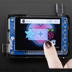 """PiTFT Plus MiniKit - wyświetlacz dotykowy pojemnościowy 2.8"""" 320x240 dla Raspberry Pi A+/B+/2"""