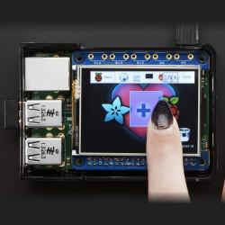 """PiTFT Hat Mini Kit - wyświetlacz dotykowy rezystancyjny 2.4"""" 320x240 dla Raspberry Pi A+/B+/2"""