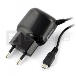 Zasilacz USB Reverse 2.4A microUSB + gniazdo USB