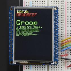 """Wyswietlacz dotykowy TFT LCD 2,4"""" 320x240 z czytnikiem microSD"""