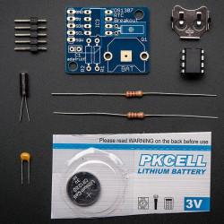 Zegar czasu rzeczywistego - RTC DS1307 + bateria - zestaw do samodzilnego montażu Adafruit