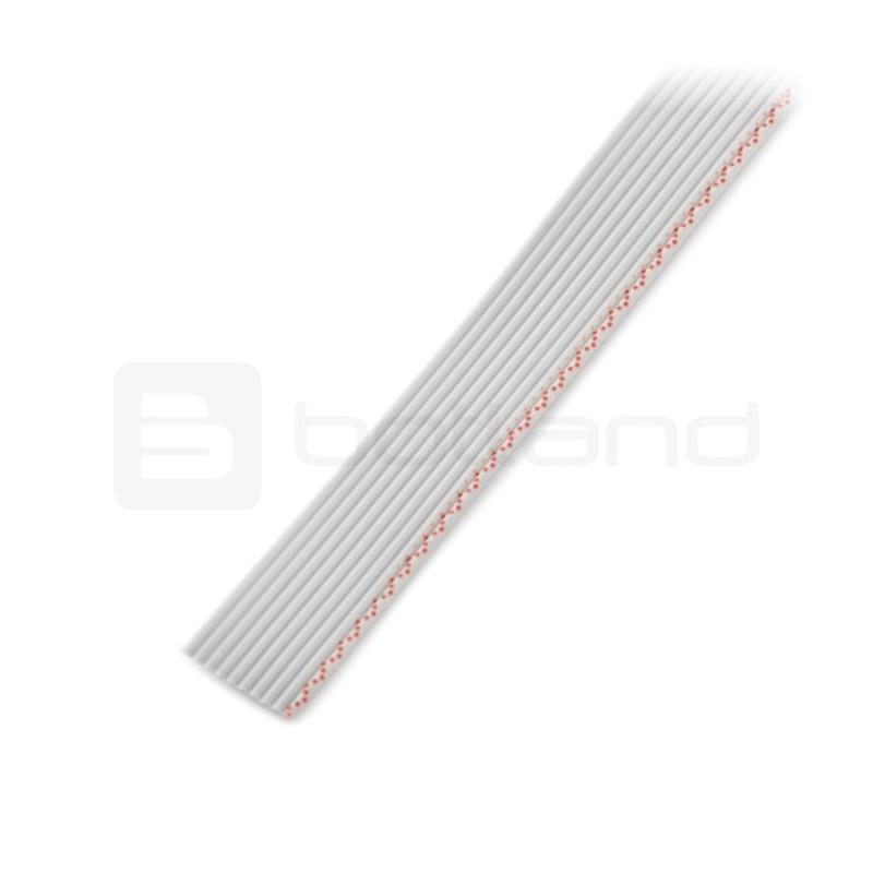 Przewód taśmowy 10 żył szary(50 cm) IDC raster 1,27mm