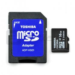 Karta pamięci Toshiba Exceria micro SD / SDHC 16GB UHS-I klasa 3 z adapterem