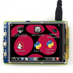 "Touch screen resistive LCD TFT display of 3.2"" 320x240px GPIO for Raspberry Pi 2/B+"