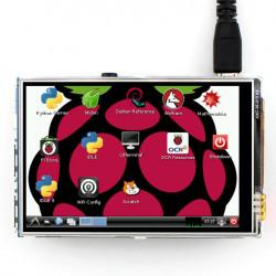 """Ekran dotykowy rezystancyjny LCD TFT 3,5"""" 320x240px GPIO dla Raspberry Pi 2/B+"""