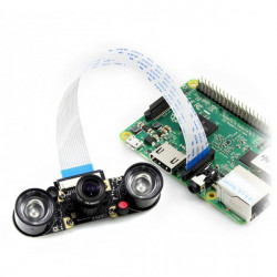 Waveshare Camera HD F Night Vision OV5647 5Mpx - IR with focus adjustment for Raspberry Pi + IR modules