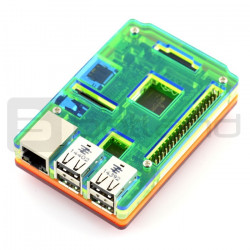 Obudowa Raspberry Pi Model 2/B+ Rainbow Case A - slim