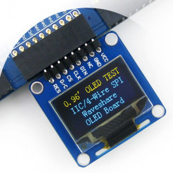 """Wyświetlacz OLED monochromatyczny graficzny 0,96"""" 128x64px SPI/I2C- kątowe złącza"""