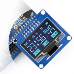 """Wyświetlacz OLED niebieski graficzny 1,3"""" 128x64px SPI/I2C- proste złącza"""