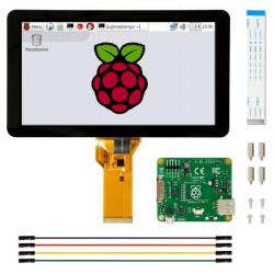 """Ekran dotykowy 7"""" 800x480px pojemnościowy DSI do Raspberry Pi"""