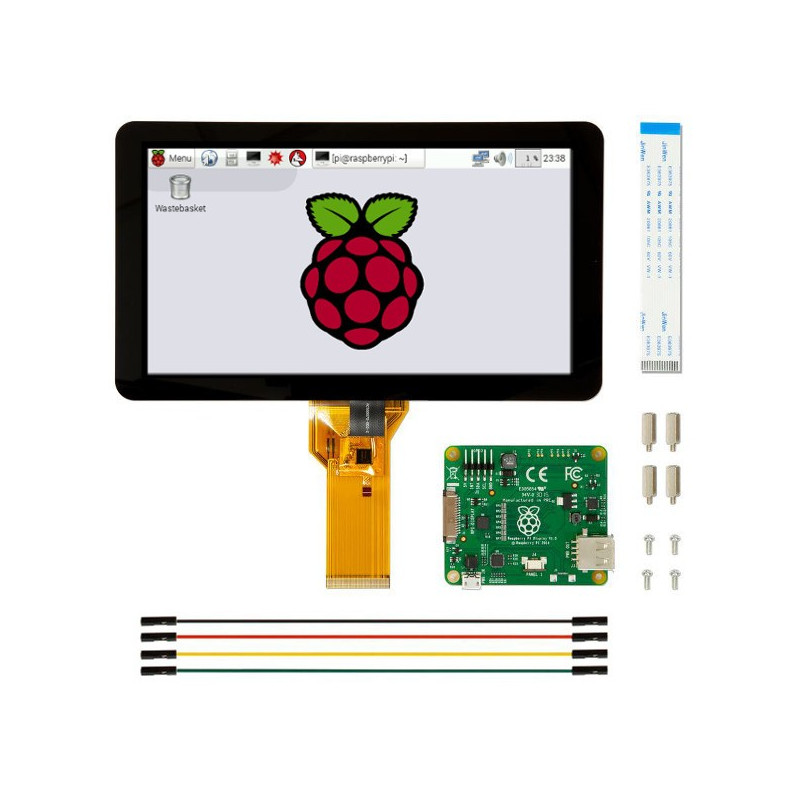 Touch screen RPI Official - capacitive LCD IPS 7'' 800x480px DSI for Raspberry Pi 4B/3B+/3B/2B*