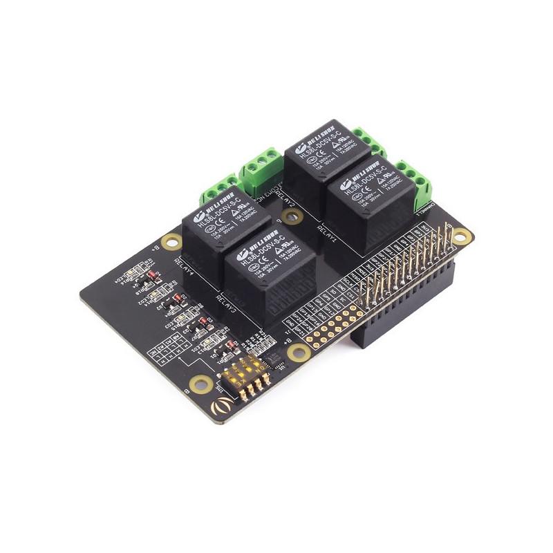 Raspberry Pi Relay v1.0 250VAC/15A- nakładka dla Raspberry Pi 3/2/B+