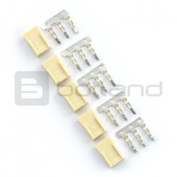 Złącze typu xxx - gniazdo 3x1 + piny - 5szt.