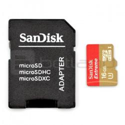 Karta pamięci SanDisk Extreme micro SD / SDHC 16GB 600x UHS-I 3 klasa 10 z adapterem