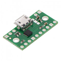 Złącze zasilające microUSB z multiplekserem TPS2113A