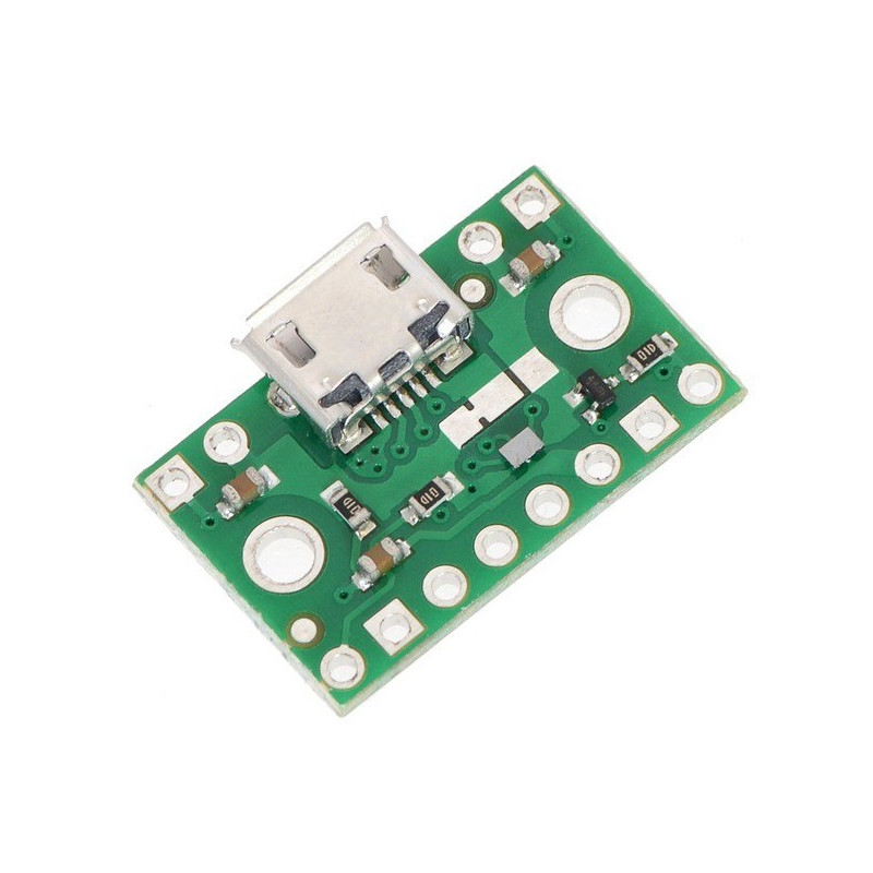 Złącze zasilające microUSB z multiplekserem FPF1320 - Pololu 2594