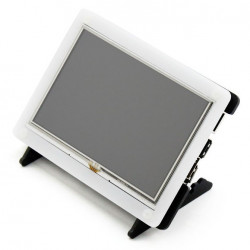"Resistive touch screen TFT LCD 5"" HDMI 800x480px + GPIO for Raspberry Pi 2/B+ + case black and white"