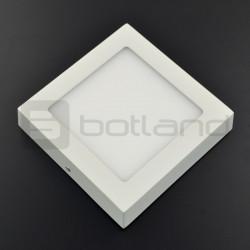Panel nadtynkowy LED, 12W, 720lm, barwa ciepła - 18cm