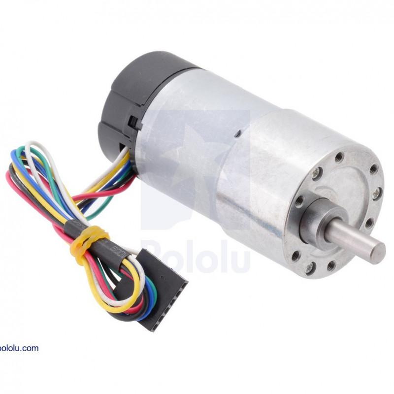 Silnik z przekładnią 37Dx73L 100:1 12V 100RPM + enkoder CPR 64