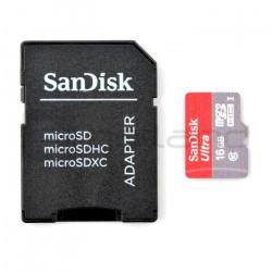 Karta pamięci SanDisk Ultra micro SD / SDHC 16GB 533x UHS-I klasa 10 z adapterem