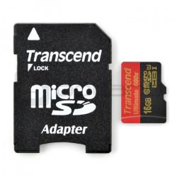 Karta pamięci Transcend Ultimate microSD / SDHC 16GB 600x UHS-I klasa 10 z adapterem