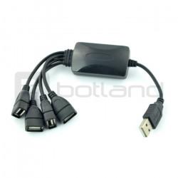 HUB USB 2.0 4-porty - 20cm