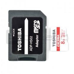 Karta pamięci Toshiba micro SD / SDHC 8GB UHS 1 klasa 10 z adapterem
