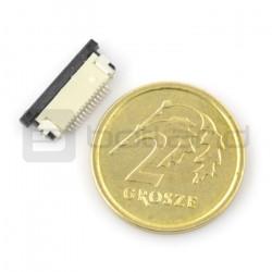 Złącze żeńskie ZIF, FFC/FPC, poziome 14 pin, raster 0,5 mm, dolny kontakt