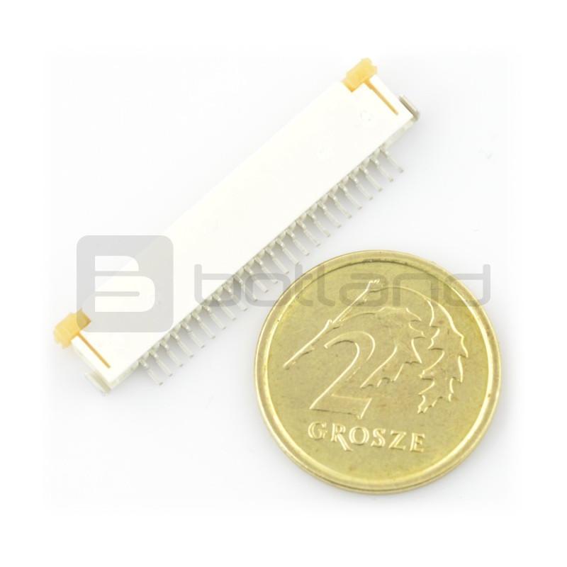 Złącze: FFC / FPC ZIF 24 pin, raster 1mm