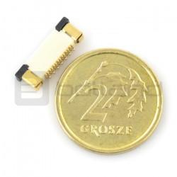 Złącze żeńskie ZIF, FFC/FPC, pionowe 14 pin, raster 0,5 mm